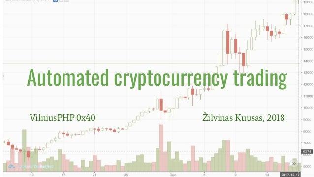 Automated cryptocurrency trading VilniusPHP 0x40 Žilvinas Kuusas, 2018