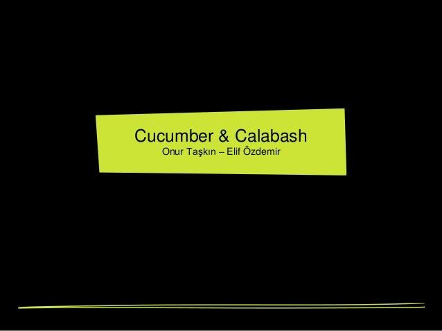 Cucumber & Calabash Onur Taşkın – Elif Özdemir