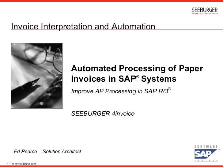 Automated Processing Of Paper Invoices In Sap Systems