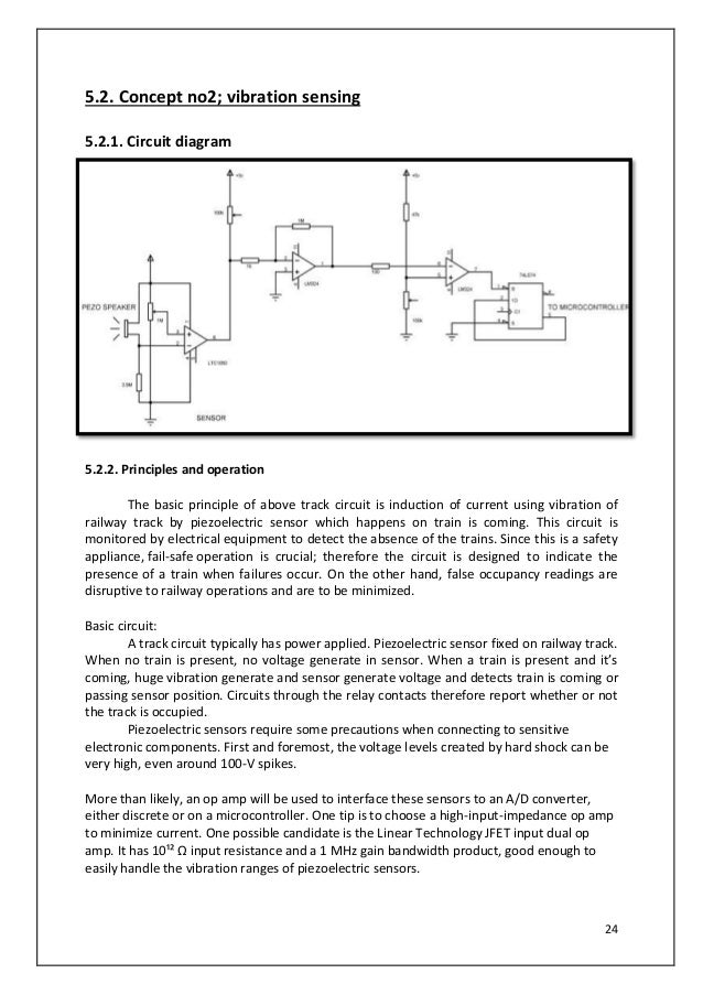 Vibration Sensor Circuit Diagram   Automated Railway Level Crossing Protection System Track Circuit