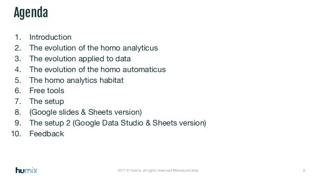 Automated reporting with With Google Sheets/Slides/Data Studio Slide 2