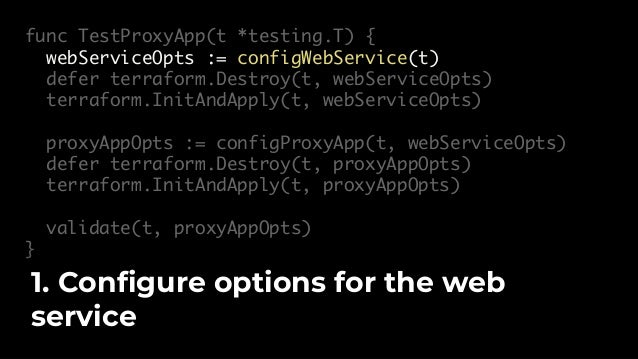func TestProxyApp(t *testing.T) { webServiceOpts := configWebService(t) defer terraform.Destroy(t, webServiceOpts) terrafo...