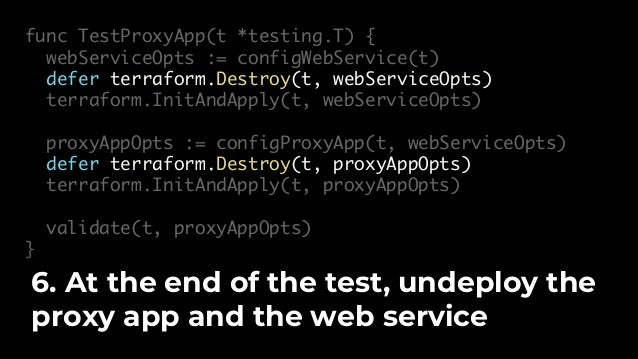 func configProxyApp(t *testing.T, webServiceOpts *terraform.Options) *terraform.Options { url := terraform.Output(t, webSe...