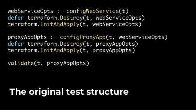 """stage := test_structure.RunTestStage defer stage(t, """"cleanup_web_service"""", cleanupWebService) stage(t, """"deploy_web_service..."""