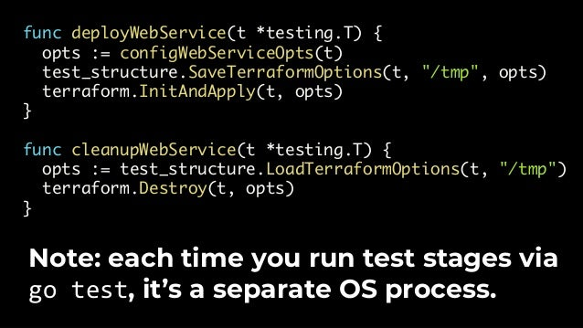 Real infrastructure can fail for intermittent reasons (e.g., bad EC2 instance, Apt downtime, Terraform bug)