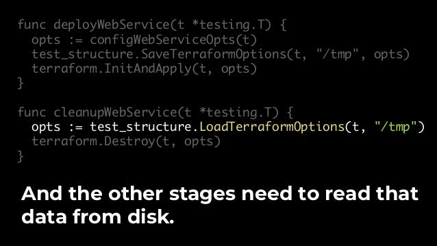 """&terraform.Options{ TerraformDir: """"../examples/proxy-app"""", RetryableTerraformErrors: map[string]string{ """"net/http: TLS han..."""