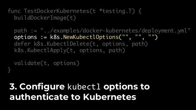 "func buildDockerImage(t *testing.T) { options := &docker.BuildOptions{ Tags: []string{""gruntwork-io/hello-world-app:v1""}, ..."