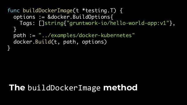 "func validate(t *testing.T, opts *k8s.KubectlOptions) { k8s.WaitUntilServiceAvailable(t, opts, ""hello-world- app-service"",..."