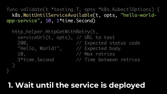 $ kubectl config set-credentials … To run the test, first authenticate to a Kubernetes cluster.