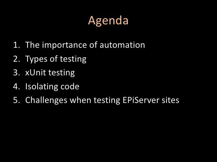 Automated Testing Of EPiServer CMS Sites Slide 3