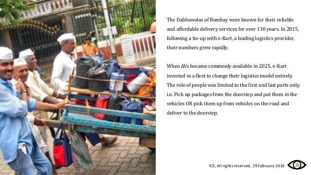 The Dabbawalas of Bombay were known for their reliable and affordable delivery services for over 130 years. In 2015, follo...