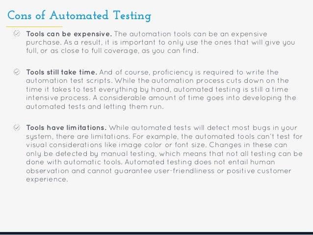 Automated vs manual testing