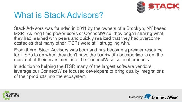 Automate Server Mastery by Stack Advisors - Automation Nation 2018