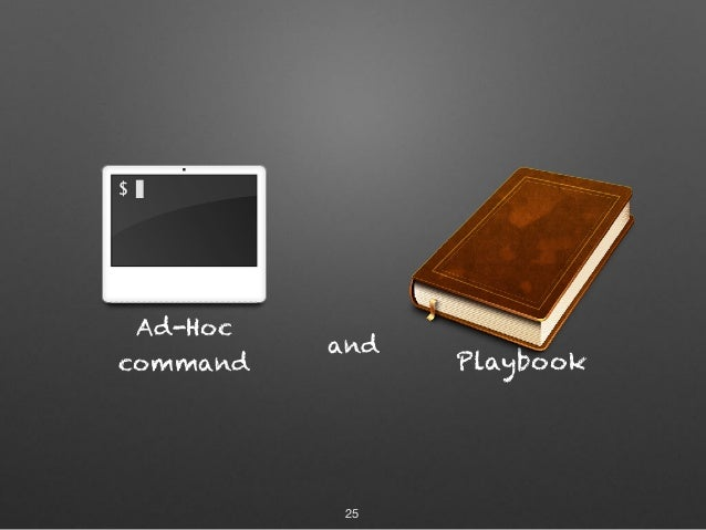 Ad-Hoc command and 25 Playbook