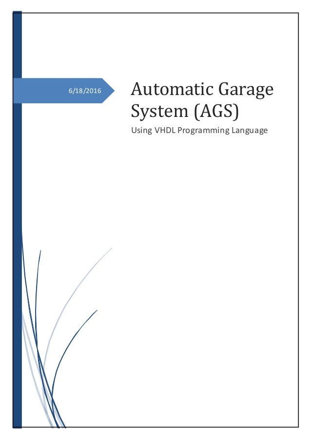 Automatic Garage System using VHDL