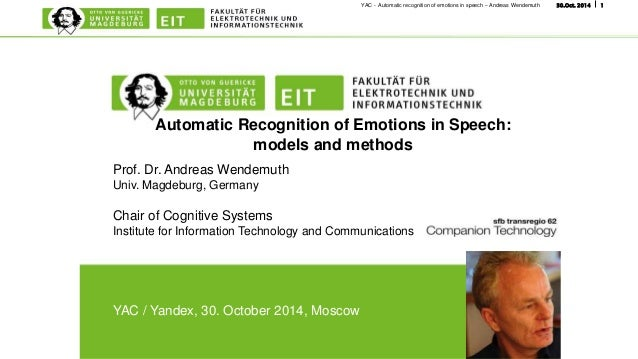 Automatic emotion recognition from speech using