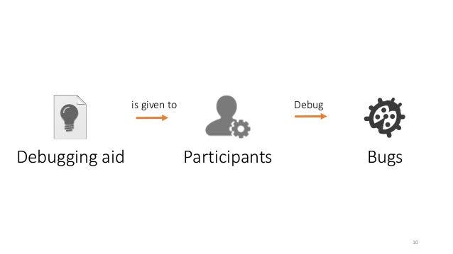 Debugging aid Participants Bugs  10  is given to Debug