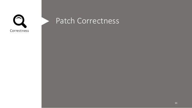 Patch Correctness  Correctness  33