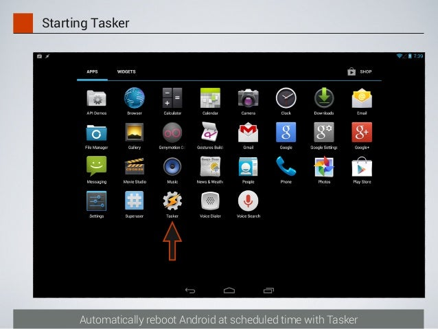 Automatically reboot Android at scheduled time with Tasker