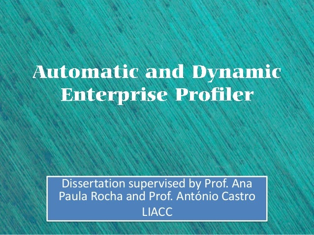 Dissertation supervised by Prof. AnaPaula Rocha and Prof. António Castro               LIACC