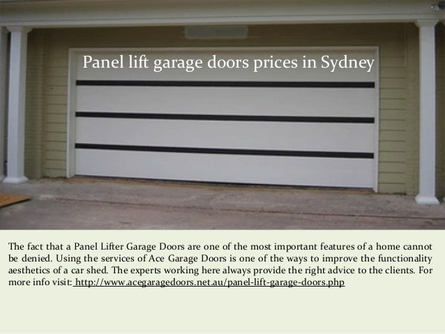 Panel Lift Garage Doors Prices In Sydney