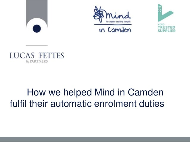 How we helped Mind in Camden fulfil their automatic enrolment duties