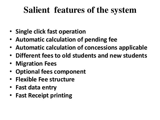Automatic fee collection & receipt printing system