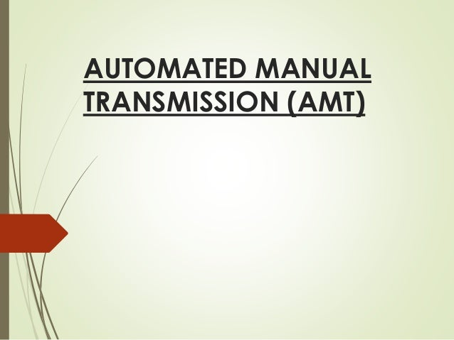 Automatic manual transmission