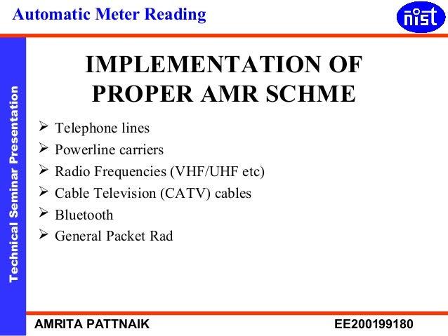 Automatic Meter Reading : Automatic meter reading