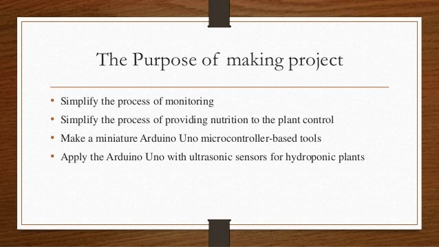 Monitoring and Automatic Nutrient for Hydroponik Plant Base On Microcontroller(Arduino Uno) Slide 3
