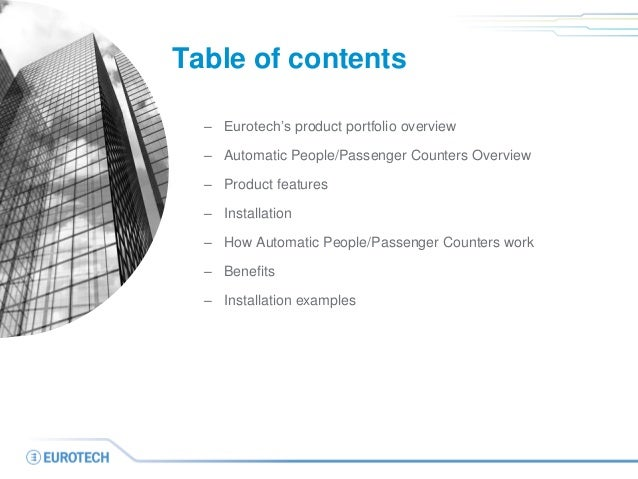Automatic People and Passenger Counters Slide 2
