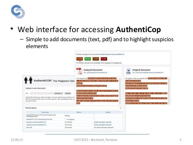 Plagiarism detection system