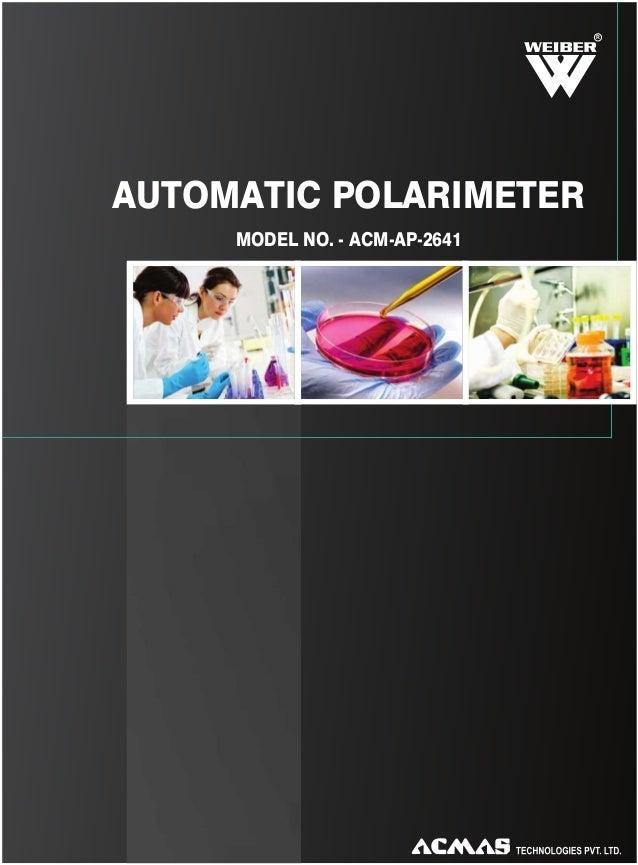 R  AUTOMATIC POLARIMETER MODEL NO. - ACM-AP-2641