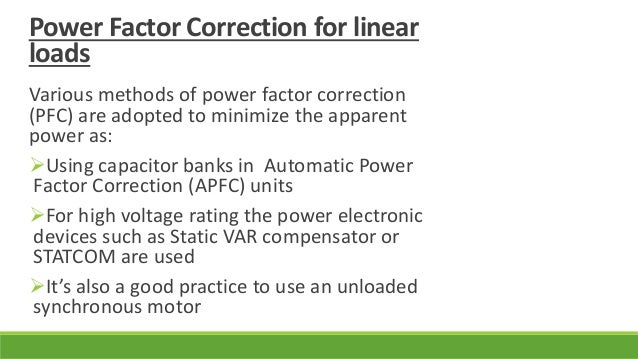Automatic power factor correction for Power factor correction capacitors for motors