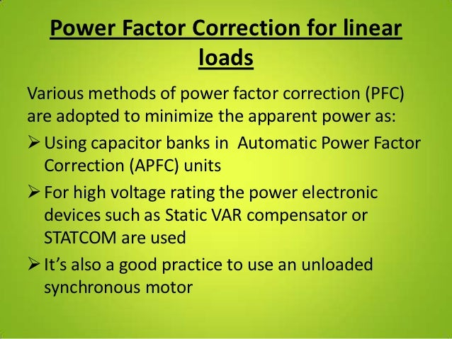 Automatic power factor correction unit for Power factor correction capacitors for motors