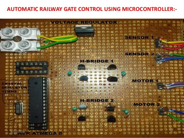 Automatic railway gate control using microcontroller