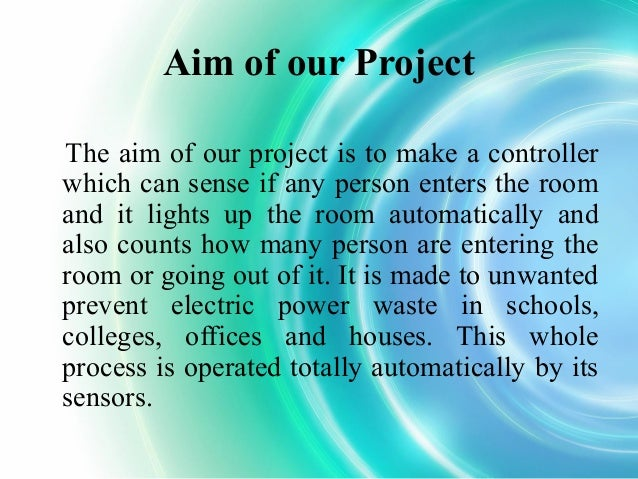 automatic room light controller project