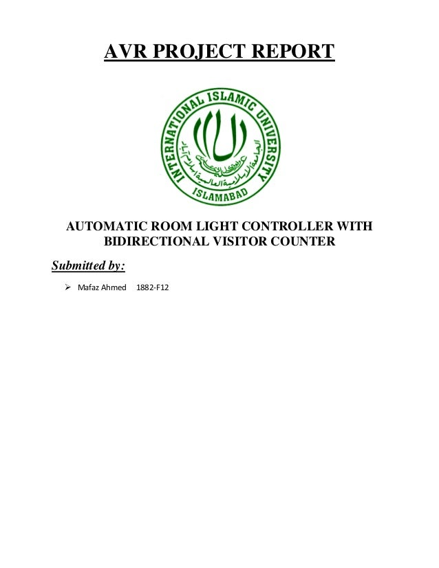 Automatic Room Light Controller With Visible Counter