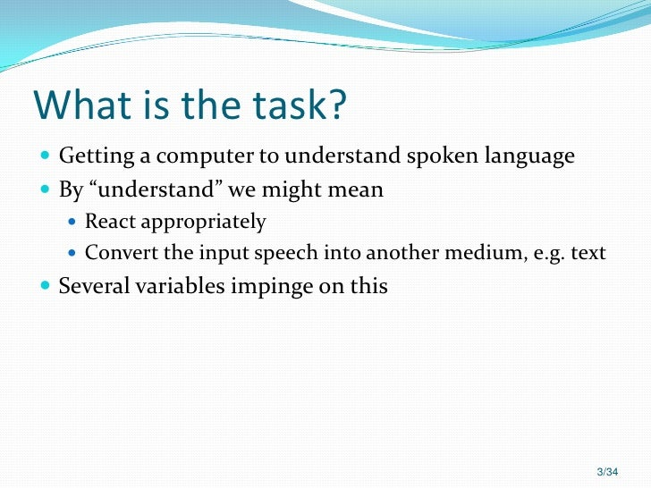 Automatic speech recognition Slide 3