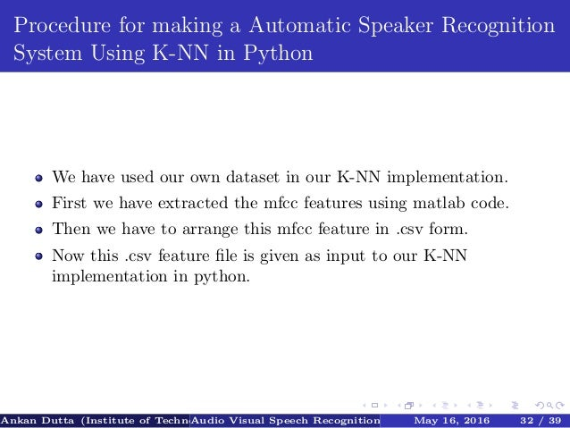 Automatic speech recognition system using deep learning