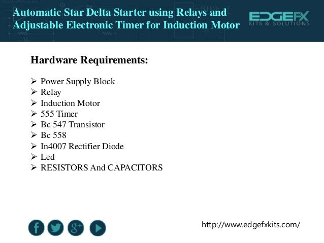 Phase Motor Starting Method By Automatic Stardelta Starter With Timer