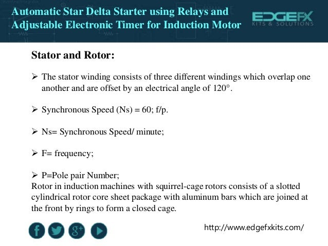 Automatic Star Delta Starter Using Relays And Adjustable