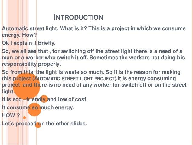 automatic street light