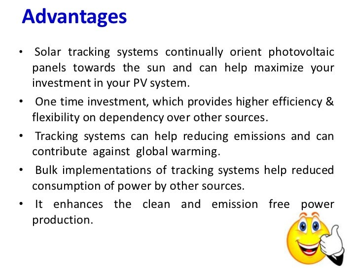 conclusion tracking system Application of solar position algorithm for sun-tracking system  conclusion this paper has presented the application of solar position algorithm to estimate.