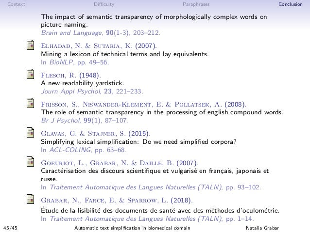 Context Difficulty Paraphrases Conclusion The impact of semantic transparency of morphologically complex words on picture na...