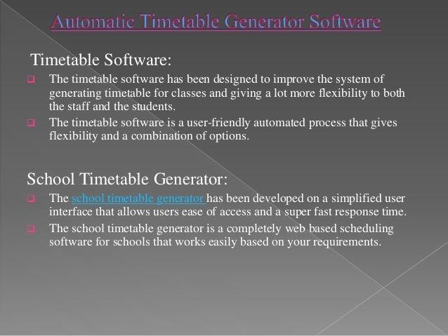 college class schedule generator