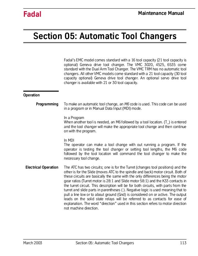 Automatic tool changers (2) on
