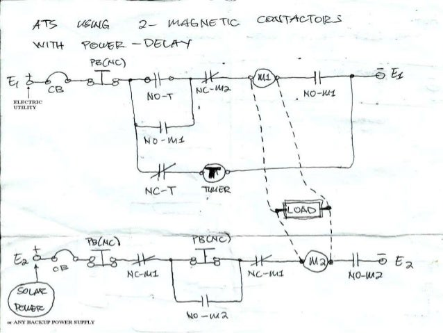 automatic transfer switch (ats) using two magnetic contactors with p generac transfer switch circuit automatic transfer switch (ats) using two magnetic contactors with power delay