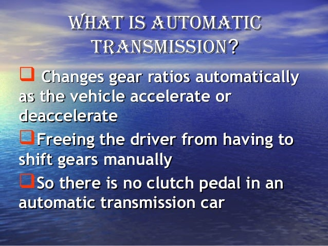 Automatic transmission ppt
