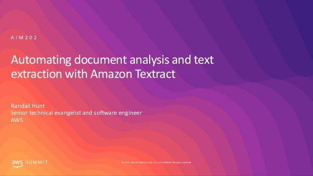 Automating document analysis and text extraction with Amazon